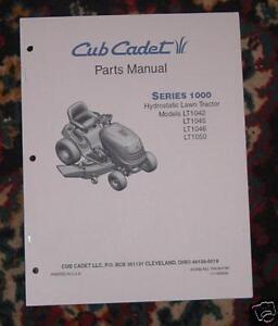 Cub Cadet LT1045 Parts Manual with Diagrams | eBay