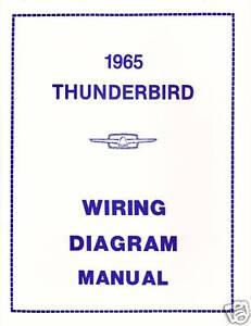 1965 FORD THUNDERBIRD WIRING DIAGRAM MANUAL | eBay