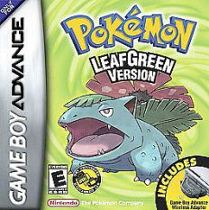 Pokemon Leaf Green version box cover art