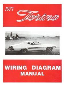 FORD 1971 Torino Wiring Diagram Manual 71   eBay