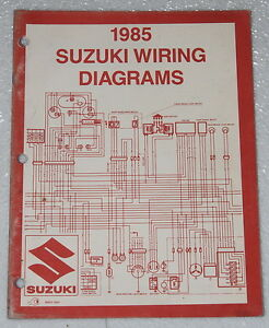 1985 SUZUKI Motorcycle and ATV Electrical Wiring Diagrams