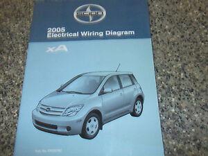 2005 TOYOTA Scion xA Electrical Wiring Diagram Service Shop Repair Manual EWD | eBay