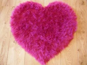 fluffy pink kids bedroom rugs washable mat girls heart shape rug