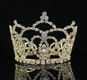 small size heart rhinestone hair crown tiara party prom bridal wedding m289 gold ebay