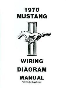 1970 MUSTANGMACH 1SHELBY DIAGRAM MANUAL | eBay