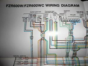 Yamaha OEM Factory Color Wiring Diagram Schematic 1989
