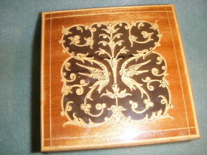 REUGE-SWISS-MUSIC-BOX-FASCINATION-MAHOGANY-W-INLAY-WOOD-MADE-IN-ITALY