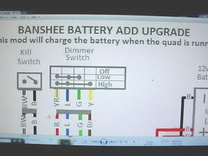 Yamaha Banshee stator battery ugrade wiring diagram engine