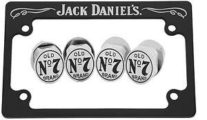 "Jack Daniels Script License Plate Frame 4"" X 7"" Black With ..."