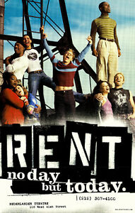 details about rent original broadway poster no day but today