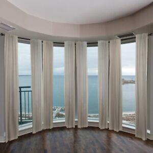 details about emoh 13 16 dia adjustable 4 sided bay window curtain rod black