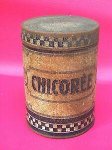 details sur boite metal ancienne publicitaire pour chicoree vintage deco