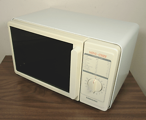 details about vintage samsung mini chef compact microwave 1988 dorm rv glass tray rare