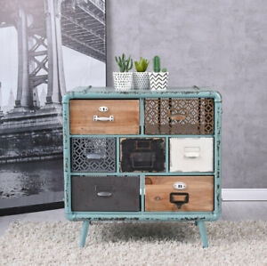 details sur loft commode patchwork armoire tiroirs industrie meuble table de chevet