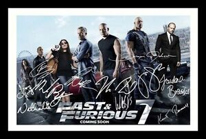 Details About Fast Furious 7 Cast Autographed Signed Framed Pp Poster Photo