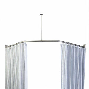 details about naiture 30 x 24 x 30 neo angle shower rod and ceiling support in chrome finish