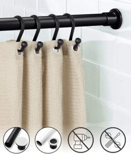 details about oxdigi room divider tension curtain rod extra long 102 4 122 1 inches large no