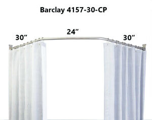 details about barclay 4157 30 cp neo angle shower rod 30 x 24 x 30 polished chrome