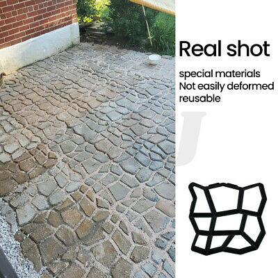 garden paving pavement mold patio concrete stone walk path maker reusable mould 715444055003 ebay