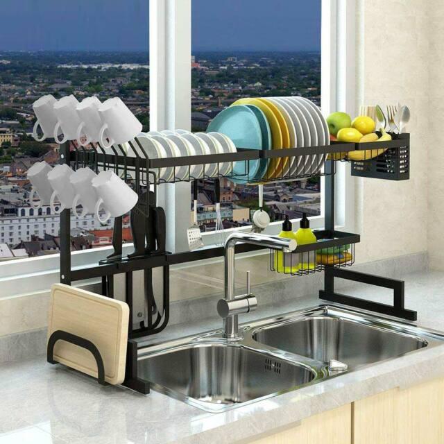 dish drainer aluminum sink colander