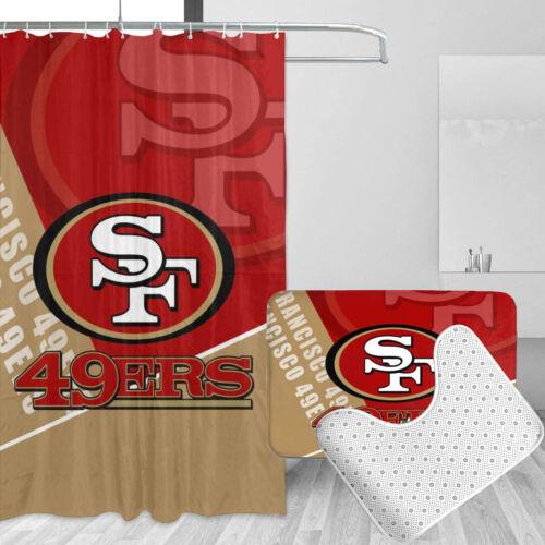 home garden shower curtains san francisco 49ers bathroom rugs 4pcs shower curtain bath mat toilet lid cover