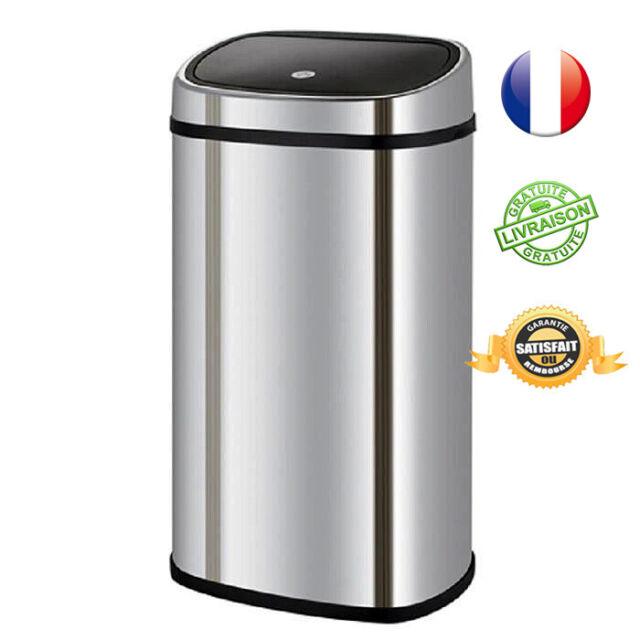 poubelle de cuisine 50l semi automatique one touch carree kitchen move neuf