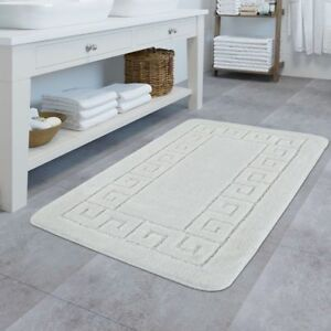 details sur tapis de bain design antiderapant tapis salle de bain avec bordure blanc