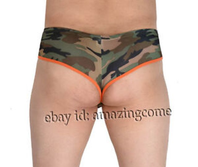 Image Is Loading Men Camouflage Cheeky Booty Underwear Hobble Skirt Briefs