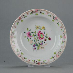 Antique 18th c Porridge Dish Qing Chinese Porcelain China Famille Rose[:...