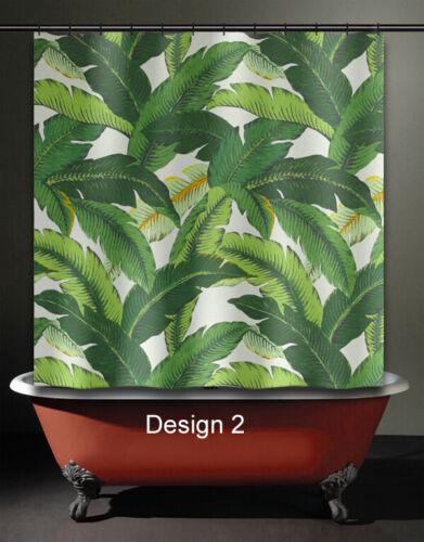 brazilliant banana leaf shower curtain tropical jungle martinique green palm shower curtains patterer home garden