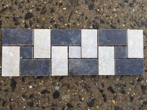 details about black grey and silver porcelain mosaic border tile listello wall tiles accent