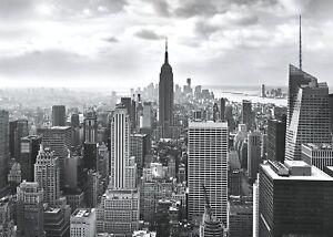 Scegli un'altro poster tra una vasta gamma di prodotti correlati : Murale Carta Da Parati 368x254cm Nero Bianco Skyline Di New York Muro Foto Adesivo Ebay