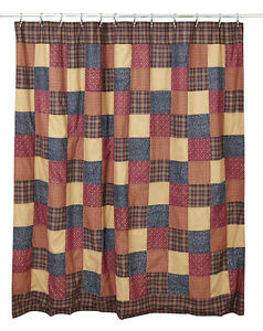 details about rustic country patriotic americana handmade old glory fabric shower curtain