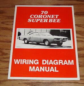 1970 Dodge Coro Super Bee Wiring Diagram Manual 70 | eBay