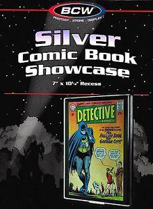 50 Silver Comic Showcase Display Case Wall Mount Display Frame BCW