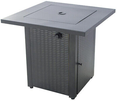 See all condition definitions : brand: Hampton Bay Gas Fire Pit Burner Metal Table Lid Adjustable