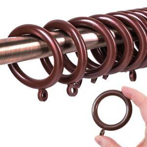 details about dark brown plastic curtain rings large 37mm inner spare extra drape hook hoop uk