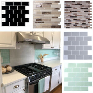 details about modern mosaic tile stickers transfers kitchen bathroom self adhesive wall cover