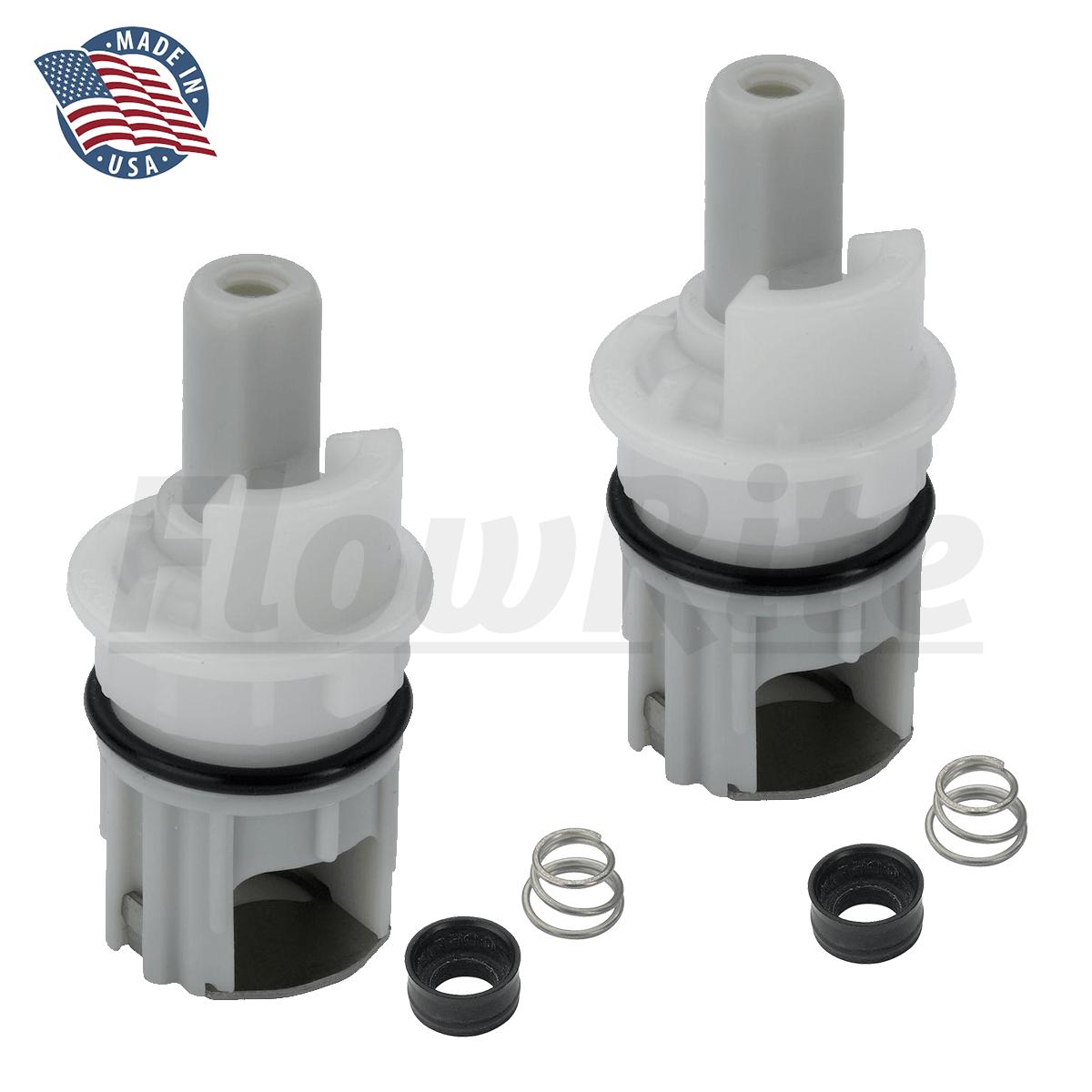 flowrite stem kit for delta faucet rp1740 two handle faucet repair 2 pack