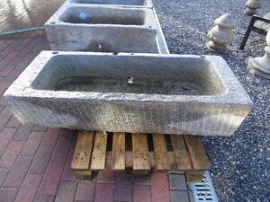 details sur bac auge en pierre bleu jardiniere bac de reception fontaine grand choix