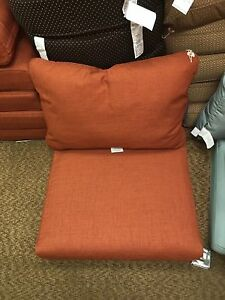 details about frontgate outdoor patio sonoma chair sofa cushions terracotta orange 27x29 new