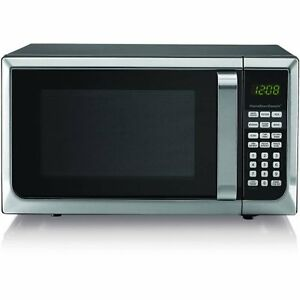 details about hamilton beach 0 9 cu ft microwave oven stainless steel w