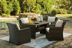 details about ashley furniture easy isle 5 piece outdoor patio set