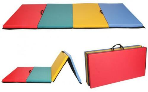New-4-039-x8-039-x2-034-Folding-Panel-Gymnastics-Mat-Gym-Exercise-Yoga-Mat-Pad-R4CM