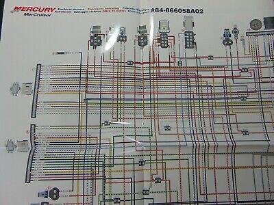 mercruiser 50l 57l 62l alpha  50l 57l 62l bravo wiring harness  diagram  ebay