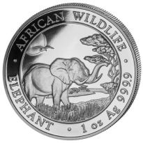 Somalia 1 oz Unze Silber 999,9 Somalia Elefant 2019 Silbermünze in Kapsel - NEU