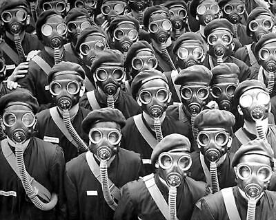 Odd & Weird ... Group of People in Gas Masks... Vintage Photo Print 8x10    eBay