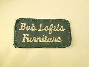 Vintage Bob Loftis Furniture Logo Company Iron On Patch