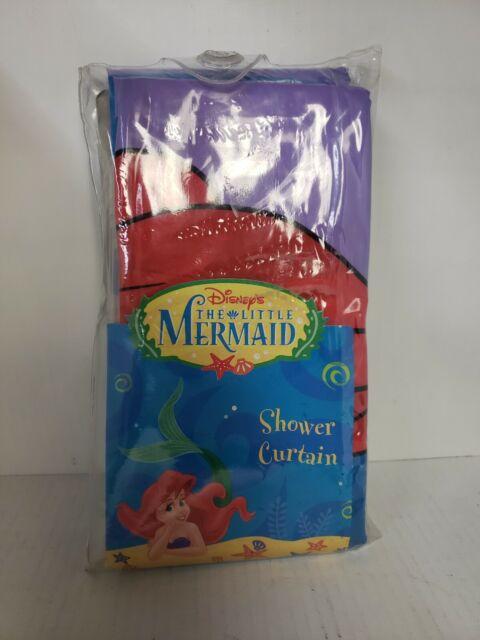 vintage 90s disney the little mermaid shower curtain bathroom