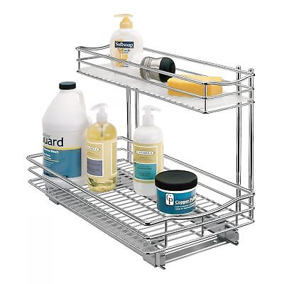 lynk professional 11 x 21 roll out under sink drawer in chrome 451121ds